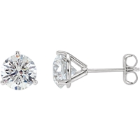 Picture of 2.00 Total Carat Stud Round Diamond Earrings