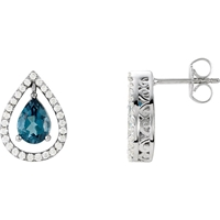 Picture of 0.33 Total Carat Designer Round Diamond Earrings