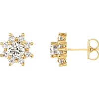 Picture of 1.75 Total Carat Halo Round Diamond Earrings