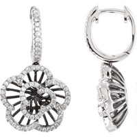 Picture of 0.50 Total Carat Floral Round Diamond Earrings