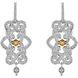 Picture of 0.03 Total Carat Designer Round Diamond Earrings
