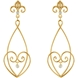Picture of 0.10 Total Carat Floral Round Diamond Earrings