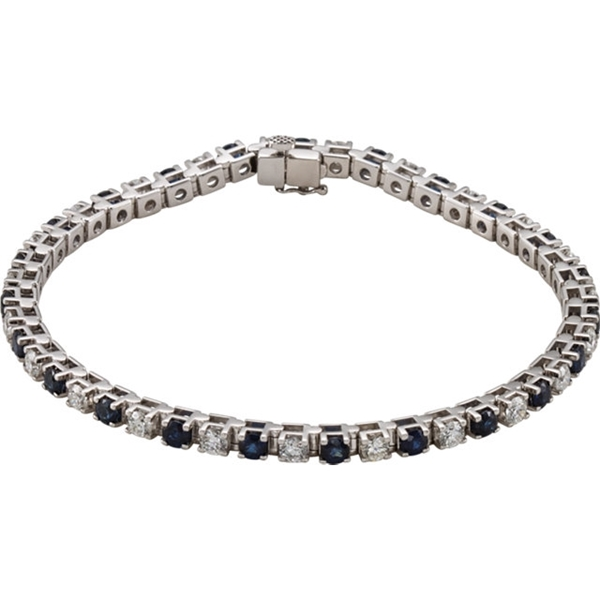 Picture of 2.38 Total Carat Line Round Diamond Bracelet