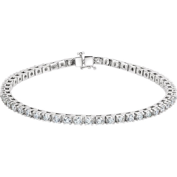 Picture of 4.50 Total Carat Line Round Diamond Bracelet