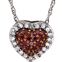 Picture of 0.20 Total Carat Heart Round Diamond Necklace