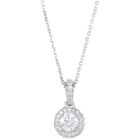 Picture of 0.62 Total Carat Halo Round Diamond Necklace
