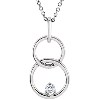 Picture of 0.04 Total Carat Classic Round Diamond Necklace