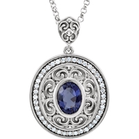 Picture of 0.13 Total Carat Designer Round Diamond Necklace