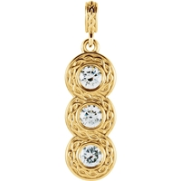 Picture of 0.33 Total Carat Three Stone Round Diamond Pendant