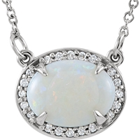 Picture of 0.05 Total Carat Halo Round Diamond Necklace