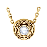 Picture of 0.10 Total Carat Designer Round Diamond Necklace