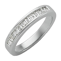 Picture of 0.33 Total Carat Anniversary Wedding Baguette Diamond Ring