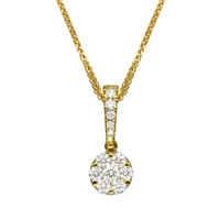 Picture of 0.45 Total Carat Designer Round Diamond Pendant