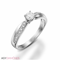 Picture of 0.27 Total Carat Classic Engagement Round Diamond Ring