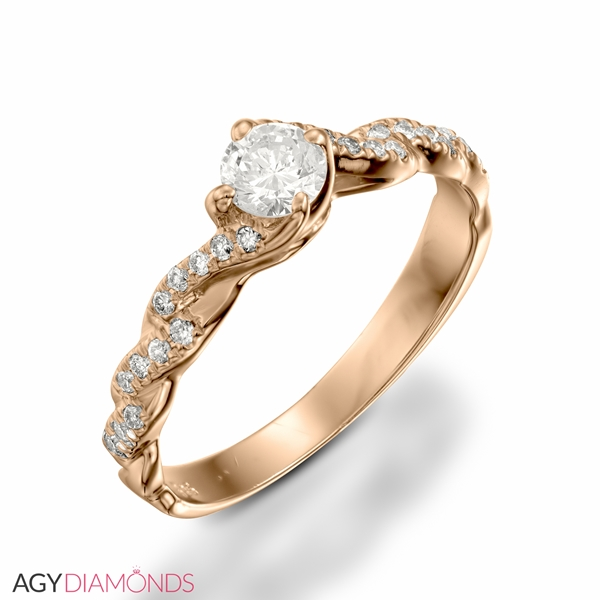 Picture of 0.42 Total Carat Designer Engagement Round Diamond Ring