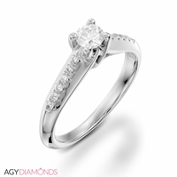 Picture of 0.52 Total Carat Classic Engagement Round Diamond Ring