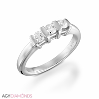 Picture of 0.40 Total Carat Three Stone Engagement Round Diamond Ring