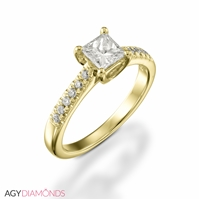 Picture of 0.82 Total Carat Classic Engagement Princess Diamond Ring
