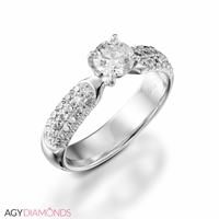 Picture of 1.38 Total Carat Classic Engagement Round Diamond Ring