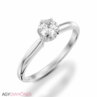 Picture of 0.50 Total Carat Solitaire Engagement Round Diamond Ring