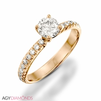 Picture of 0.50 Total Carat Classic Engagement Round Diamond Ring
