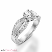 Picture of 0.54 Total Carat Designer Engagement Round Diamond Ring