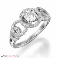 Picture of 0.59 Total Carat Masterworks Engagement Round Diamond Ring