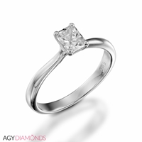 Picture of 0.60 Total Carat Solitaire Engagement Cushion Diamond Ring