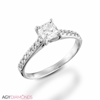 Picture of 0.71 Total Carat Classic Engagement Princess Diamond Ring