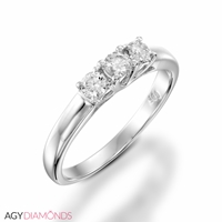 Picture of 0.30 Total Carat Three Stone Engagement Round Diamond Ring