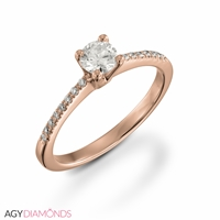 Picture of 0.48 Total Carat Classic Engagement Round Diamond Ring
