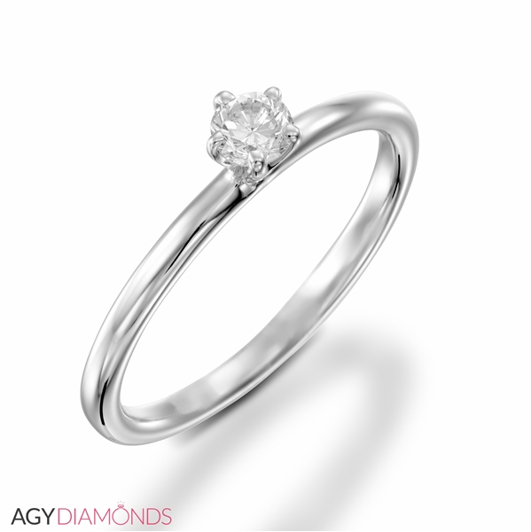 Picture of 0.18 Total Carat Solitaire Engagement Round Diamond Ring