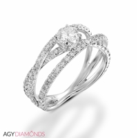 Picture of 1.20 Total Carat Masterworks Engagement Round Diamond Ring