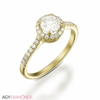 Picture of 0.63 Total Carat Halo Engagement Round Diamond Ring