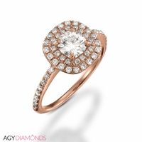 Picture of 1.31 Total Carat Halo Engagement Round Diamond Ring