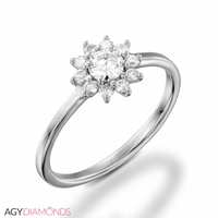 Picture of 0.33 Total Carat Floral Engagement Round Diamond Ring