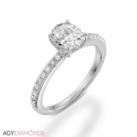 Picture of 0.56 Total Carat Classic Engagement Oval Diamond Ring