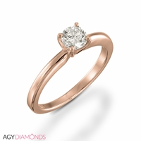Picture of 0.25 Total Carat Solitaire Engagement Round Diamond Ring