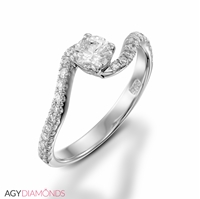 Picture of 0.65 Total Carat Classic Engagement Round Diamond Ring