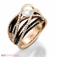 Picture of 2.18 Total Carat Masterworks Engagement Round Diamond Ring