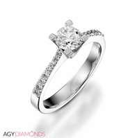 Picture of 0.59 Total Carat Classic Engagement Round Diamond Ring